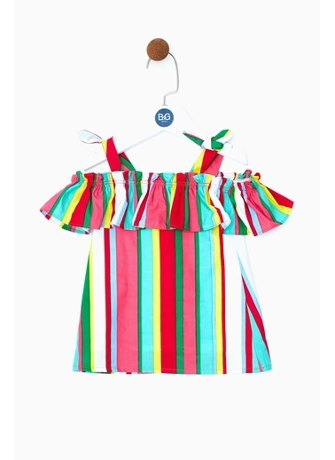 BG Baby Kız Bebek Çizgili Elbise 19SS0BG2911 Renkli